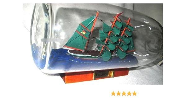 magicaldeco Kleines Flaschenschiff Schiff in Flasche Buddelschiff Alexander von Humboldt