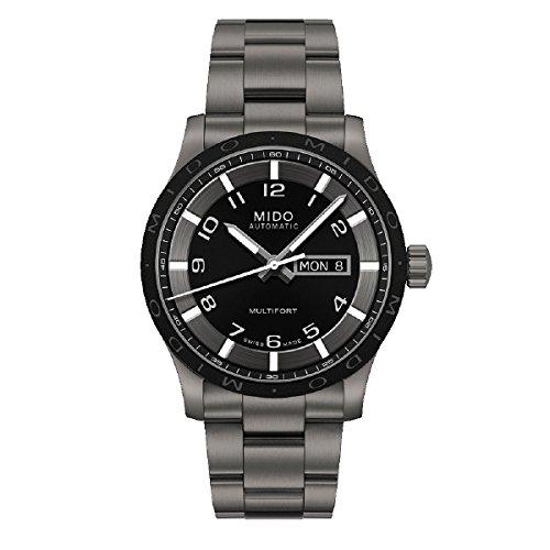 Mido Herren-Armbanduhr Multifort Analog Automatik Titan M018.430.44.052.00