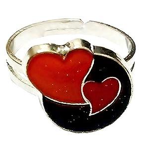Inception Pro Infinite Justierbare Größe Ring mit 2 Herzen, die Farbe mit ändern – Humor – Geschenkidee