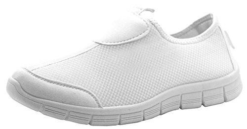 Damen Go Wandern Bekomme Passform Turnschuhe Sportschuhe Athletic Laufschuhe Sport Fitness DEK Bianco/bianco