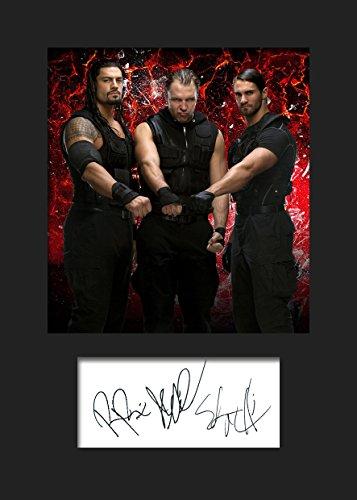 The Shield WWE #1signiertes Foto im Passepartout, A5,Druck