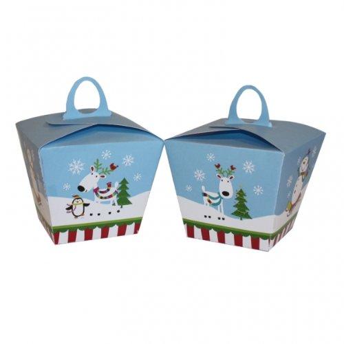 996768 - Scatole natalizie, motivo: pupazzo di neve, usato  Spedito ovunque in Italia