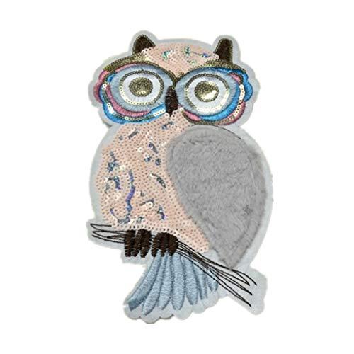 Bomcomi Stricke Tuch Paste Cartoon Applikationen reizende Kind-Plüsch-Pailletten-Kostüm Flecken-Kleidung-Dekorationen