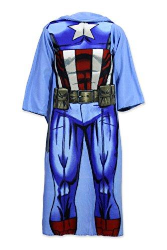 Character CartoonsWinterliche Tagesdecke mit Ärmeln, bedruckt, für Kinder Captain America (Captain America-spiele F)