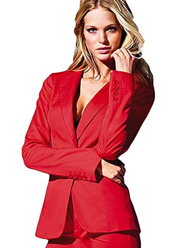 P.L.X Frauen Anzug Business Zweiteiliger Rock und Blazer Jacke mit Hosenanzug -
