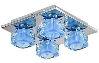 Plafonnier à LED changeant de couleur de lampe de plafond de verre cristal Esto Evita 9749183-4