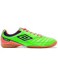 Umbro Futsal Attak IC, Zapatilla de fútbol Sala, Green-Orange-Navy