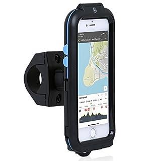 Wicked Chili Tour Case für Apple iPhone 8 / 7 / 6S / 6 - Outdoor Fahrradhalterung Bike Navigation mit Apple Touch ID Funktion (Spritzwasserschutz IPX5, Ladekabelanschluss, Kopfhörerbuchse) schwarz, für iPhone 8 / 7 / 6S / 6 (4,7 Zoll)