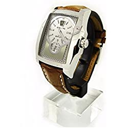 Clock Breitling Breitling for Bentley Automatic a28362Silver quandrante Steel Leather Strap