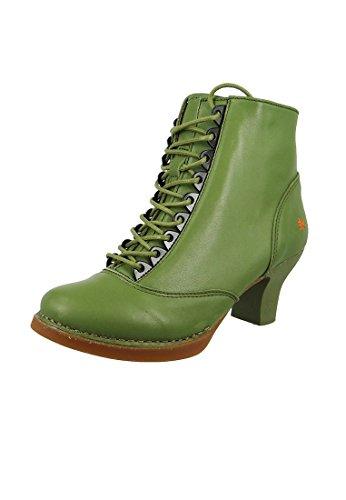 Stivaletto Alla Caviglia In Pelle Stile Harlem Kaki Green 0927 Kaki