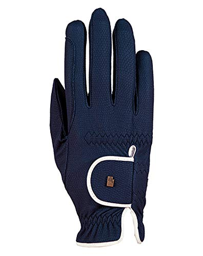 Roeckl Sports Damen Handschuh Lona, Damenreithandschuh, Marine/Weiß, 6