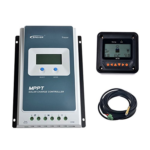Epever MPPT Solar Charge Controller Tracer A 10A 20A 30A 40A + Remote Meter MT-50 Solar Charge With LCD Display for solar Battery Charging (40A)