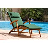 2Deck Chair cojines Rojo cremallera funda lavable (sin Tumbona)
