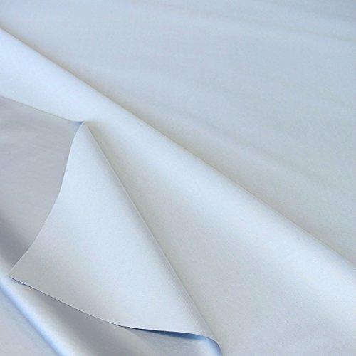 TOLKO Sonnenschutz Verdunkelungsstoff Meterware in 6 Farben | 100{c06e877b2631a1cbdced19a9757b363da77bd295ae4b250c70e5cdcd5957ab9b} Lichtdicht, Thermo-Beschichtung | als Fensterfolie, Verdunkelungsvorhang/Gardine, Verdunklungsrollo (Hellgrau)