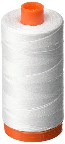 Aurifil,-2024Mako-Baumwolle Gewinde massiv 50WT 1422yds weiß -