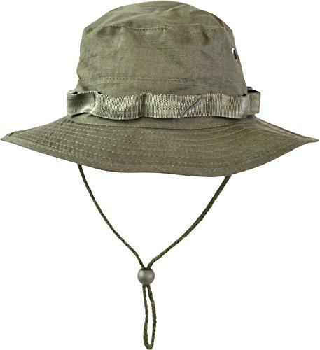(normani Australian Outdoor Hut Boonie Hat in vielen Farben und Grössen Farbe Oliv Größe L)