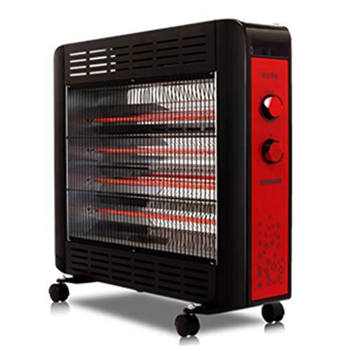 GJM Shop Kohlefaser Fern-Infrarot-Heizung Heizung 2200W 360 ° Universalrollen Bodenständig Kippschutz Zimmer Bad Dual-Use Elektrische Heizung