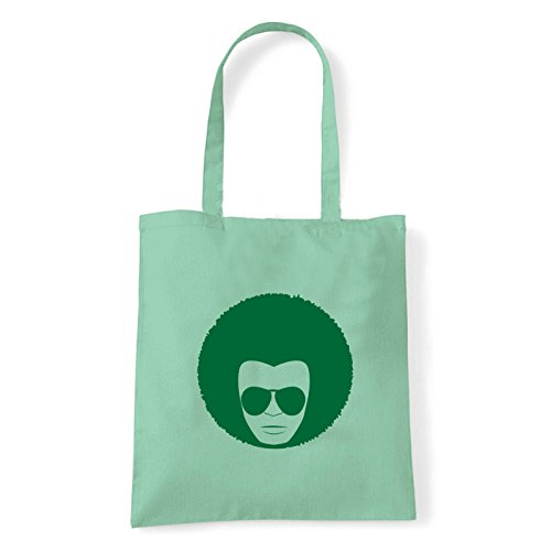 Art T-shirt, Borsa Shoulder faccia-anni-70 Menta