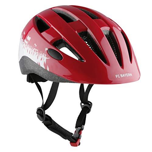 FCB Helm   Kinder-Fahrradhelm   rot   Größe M   53-58 cm