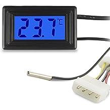 Termometro digitale Keynice Sensore con attacco USB per misurazione di temperatura visualizzazione in gradi Fahrenheit o Celsius LCD Display a colori