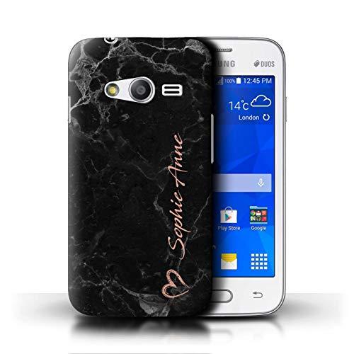 Stuff4® Personalizzato Marmo Endless Personalizzato Oro Rosa Custodia/Cover per Samsung Galaxy Trend 2 Lite/G318 / Oro Rosa Pennello Firma Cuore Design/Iniziale/Nome/Testo Caso/Cassa