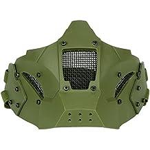 haoYK tactique Airsoft en maille filet de protection Demi masque visage  pour Wargame Paintball de cosplay a07a08535aa8