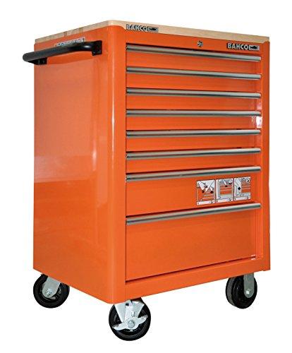 'Bahco – Chariot 26 8 Boîte Orange Top en bois