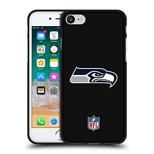 Head Case Designs Offizielle NFL Einfarbig Seattle Seahawks Logo 2 Schwarze Soft Gel Huelle kompatibel mit iPhone 7 / iPhone 8