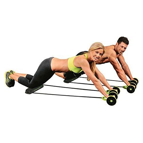 Máquina de ejercicio abdominal con tapete y ruedas abdominales profesionales con soporte de rodillo