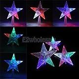 Star Light-up Xmas Tree Topper Merry Christmas Treetop Ornament Craft 22cm