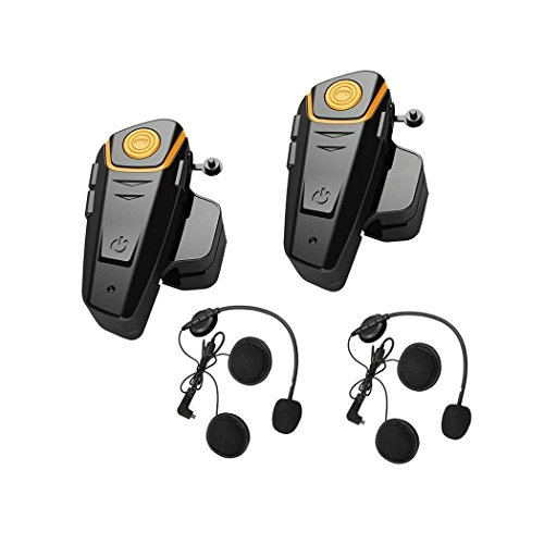 ENCHICAS 2x Intercom Moto Duo étanche Kit Bluetooth pour...