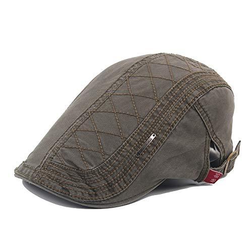 ret Hat Baumwolle Flat Hat Männer und Frauen Breathable Style Retro Beret Outdoor Visier Hat Stilvoll (Farbe : Green, Größe : 56-58CM) ()