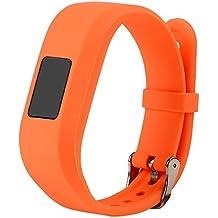 For Vivofit JR.2 Bands, Large Replacement Wristbands for Garmin vivofit JR2, Active Bright Colors Silicone Straps for Garmin vivofit jr. 2, Orange