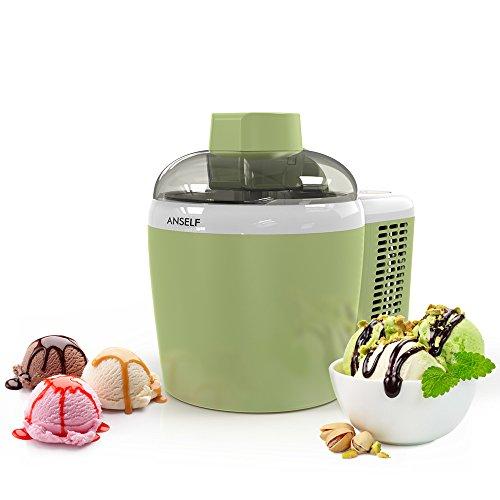 Anself Fruit Machine à Glace Vert Automatique Intelligente Crème Glacée Maker 600ml Avec Intégré dans le Système de Refroidissement