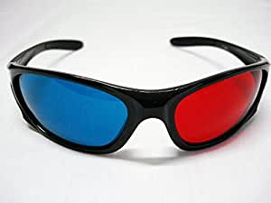 Professional Plastic Frame 3D Glasses Anaglyph Glasses for Movie Game Red & Cyan by Thumbs Up