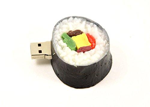 Febniscte 8gb usb penna figura rotonda sushi usb 2.0 flash drive
