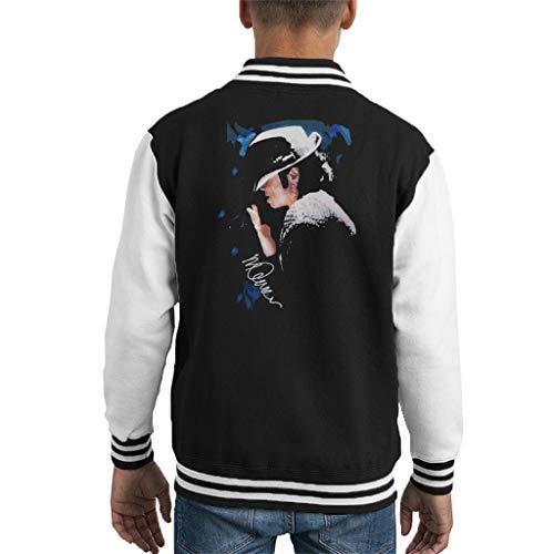 VINTRO Michael Jackson Gespitzte Hat Kinder Varsity Jacke Original-Porträt von Sidney Maurer (Oxford Navy,XL) (Varsity Jacken Für Kinder)