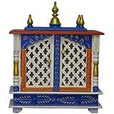 MVEE Wooden Temple/Pooja Mandir/Mandapam/Home Temple (46 cm x 24 cm x 53 cm)