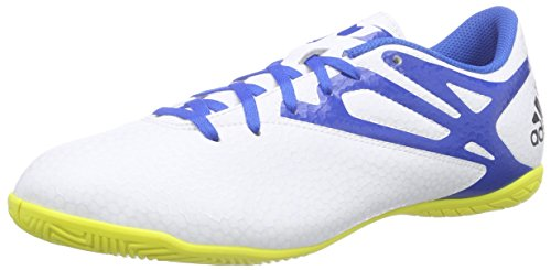 adidas Messi15.4 IN, Chaussures de football homme Blanc - Weiß (Ftwr White/Prime Blue S12/Core Black)