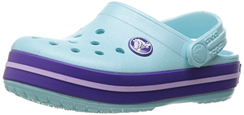 crocs Crocband Clog Kids, Unisex-Kinder Clogs, Blau (Ice Blue), 24-25 EU (C8 UK) (Jungen Crocs Kleinkind)
