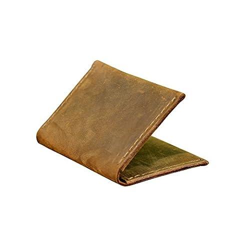 Portefeuille en cuir véritable pour homme. Titulaire de la carte pour les femmes. Portefeuille mince