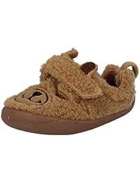 Clarks Shilo Jack Fst - Zapatillas de estar por casa de Lona para niño Marrón marrón