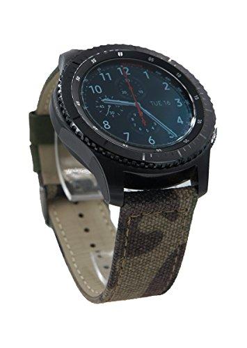 22mm Tarnung Stoff Uhrenarmband Armband + Werkzeug für Samsung Gear S3 Frontier / S3 Classic Smartwatch