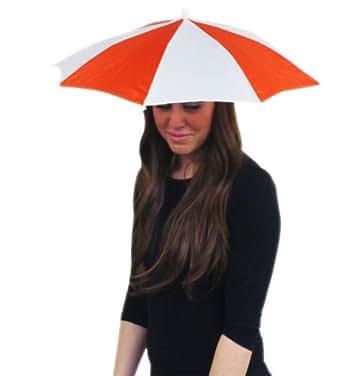 Chapeau parapluie orange