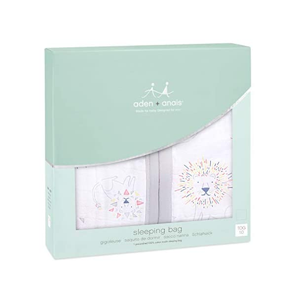 aden+anais – Saco de dormir multicapa, 100% algodón, 1 Tog, 18+ meses, líder del paquete
