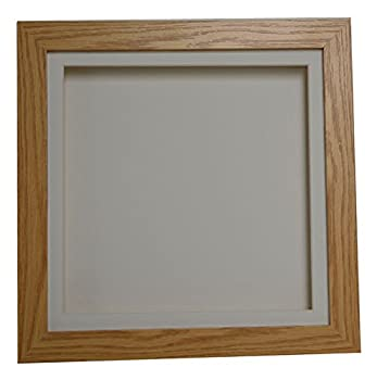 Oak Effect 3d Deep Box Picture Frame Display Memory Box For Medals Memorabilia Flowers Etc (10x10 1