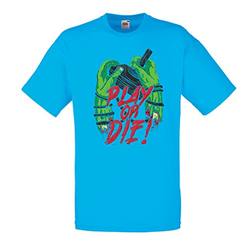 Männer T-Shirt Spielen oder sterben - nur für Spieler! (Medium Blau Mehrfarben)