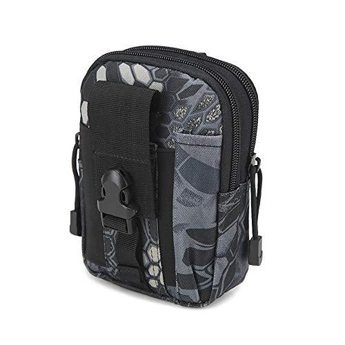 Shuzhen,tasche esterne tasca per cintura cintura per usura cintura borsa per cellulare 5.6 pollici(color:pitone nero,size:6 pollici)