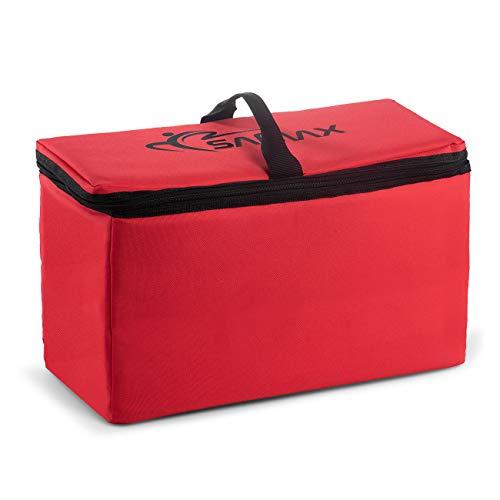 SAMAX Kühltasche Isoliertasche Kühlbox für Bollerwagen Offroad 42x19x24 cm Thermotasche Camping Faltbar - Rot