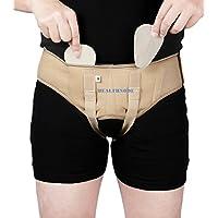 healthnode ® Inguinal Hernia Support Belt/Hernia Belt Support Truss With Special Foam Pads - Superior Comfort And Adjustable Pressure Large beige